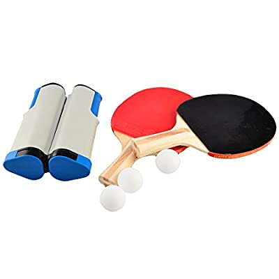 WOLFBUSH Portable Retractable Anywhere Tabletop Table Tennis Set Tabletop Game Toy - Color Random