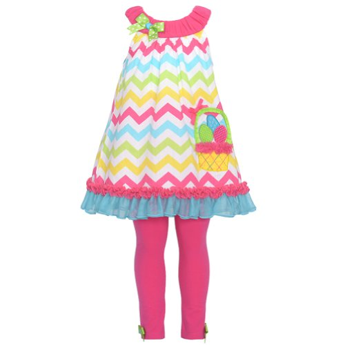 Rare Editions Easter Egg Basket Tunic Dress with Leggings