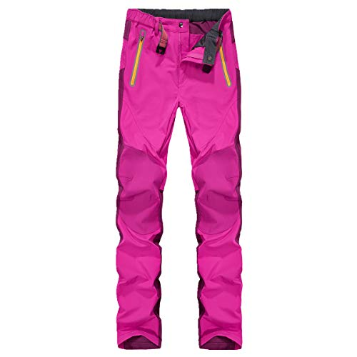 Montbreaker Womens Outdoor Trail Sportswear Water Repellent Softshell Hiking Pants Pink M