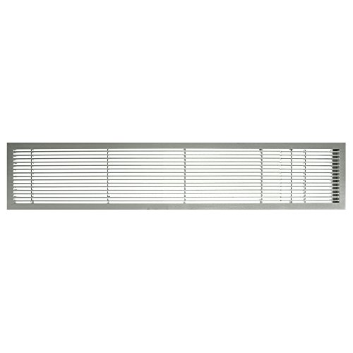 Architectural Grille 100044811 AG10 Series 4'' x 48'' Solid Aluminum Fixed Bar Supply/Return Air Vent Grille, Brushed Satin with Door by Architectural Grille