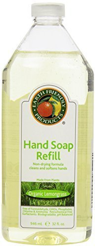 Earth Friendly Products Hand Soap Refill, Lemongrass, 32 Ounce by Earth Friendly Products