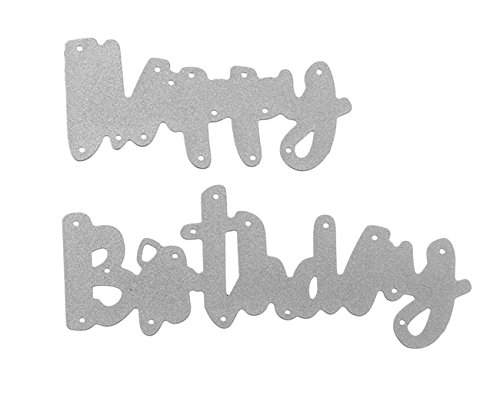 Happy Birthday Words Metal Cutting Dies Stencils for DIY Scrapbooking Photo Album Embossing Paper Cards Crafts (A) by DOULY (Image #1)