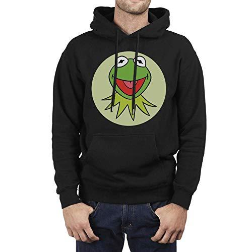 Hoodie Long Sleeve Mens Kermit-The-Frog-Avatar-Round- Hooded Sweatshirt