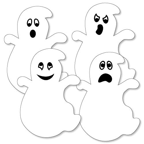 Spooky Ghost - Ghost Decorations DIY Halloween Party Essentials - Set of 20]()