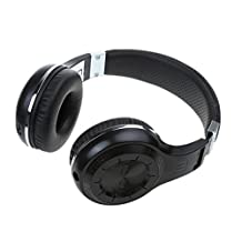 MagiDeal Bluedio Turbine Hurricane H+ Bluetooth4.1 Wireless Stereo Headphone with Mic - Black