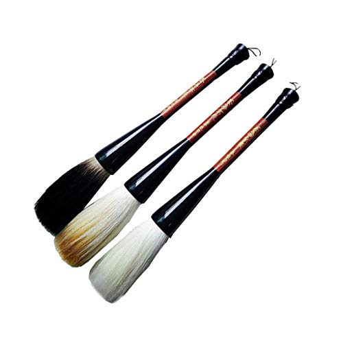 QTT Writing Brush, Calligraphy Supplies, Solid Wood Pens, Couplet Pens (3 Pcs) by QTT (Image #5)