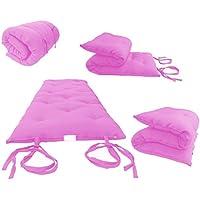 Brand New Pink Traditional Japanese Floor Futon Mattresses, Foldable Cushion Mats, Yoga, Meditaion.