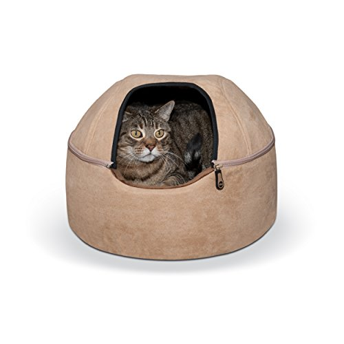 K&H Pet Products Kitty Dome Bed (Unheated) Small Tan 16