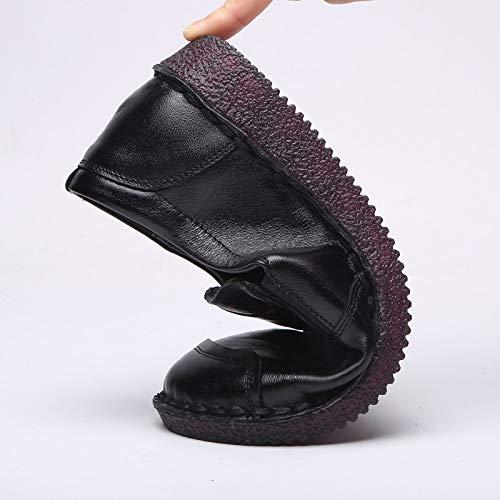 ZHRUI 40 Rouge Chaussures EU coloré Taille Noir rwrH8U