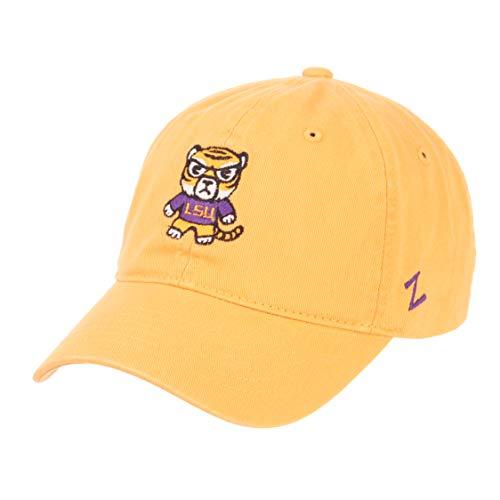- Zephyr NCAA LSU Tigers -Adult Shibuya Relaxed Cap, Adjustable, Gold