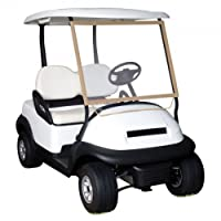 Accesorios clásicos Fairway Deluxe, carro de golf portátil, parabrisas, arena /transparente