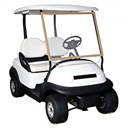 Classic Accessories Fairway Deluxe Portable Golf Cart Windshield, Sandclear