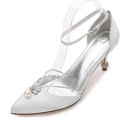 Zehe auf Womens Abend Hochzeit Heels Klassische Pumpe Party Slip Schuhe Zxstz Braut Prom naher Schuhe pqgFZwxF