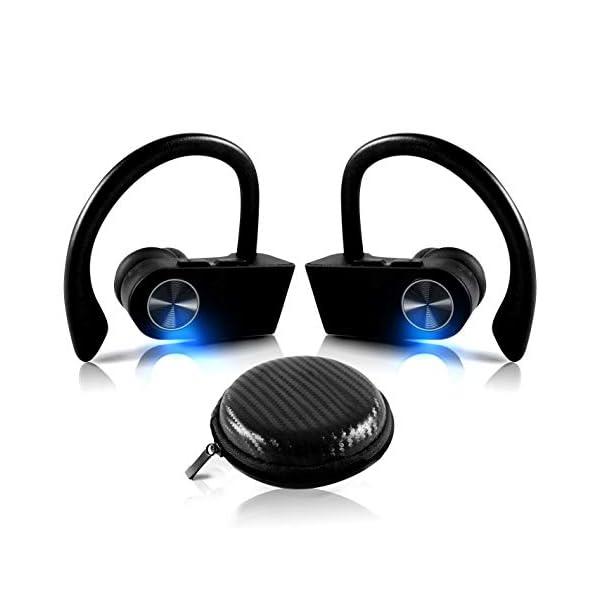 True Wireless EARBUDS Totally Truly Bluetooth 5 Power Pro Sports Beats Noise Cancel Isolation Waterproof IPX7 Black Grey 1
