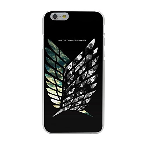 Black Attack On Titan iPhone 7 Plus Cover, Survey Corps iPhone 8 Plus Case Survey Corps Logo Phone Cover iPhone 7 Plus 8 Plus Shingeki No Kyojin iPhone Casing Matte Phone Cover, Hard Plastic