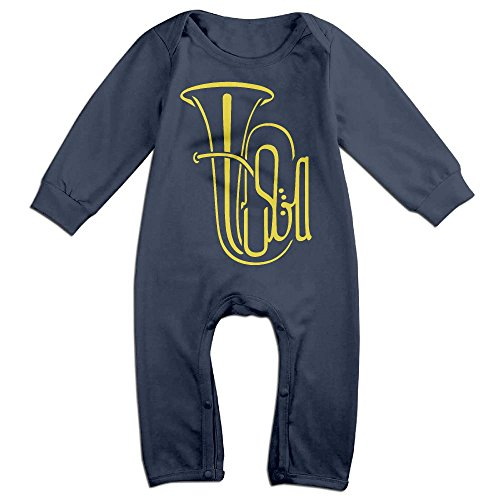 Deer Costume Party City (Baby Infant Romper Tuba Long Sleeve Jumpsuit Costume Navy 24 Months)