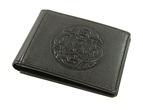 Biddy Murphy Celtic Money Clip & Wallet Genuine Leather Black Made in Ireland