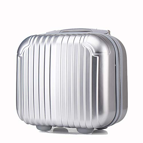Z&YY Trolley Case Cosmetic Case Mini Luggage Storage Cosmetic Bag Travel Laundry Bag (14 inches) (Color : Silver Grey)