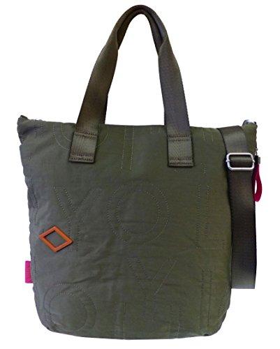 Oilily Spell Shopper LVZ Mud Damen Schultertasche grün/khaki (32x38x10cm)