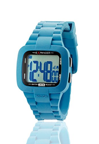 Sector Men's Watch in Azure Polycarbonate, form Rectangle, line Expander, weight 58 grams