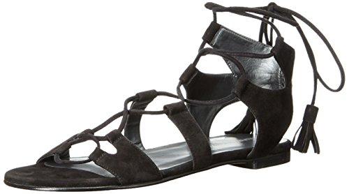 Stuart Weitzman Women's Romanflat Gladiator Sandal Black M0YzP