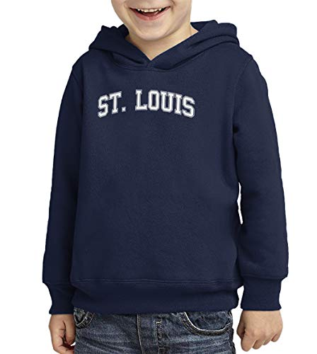 (St. Louis - State Proud Strong Pride Toddler/Youth Fleece Hoodie (Navy Blue, 4T (Toddler)))