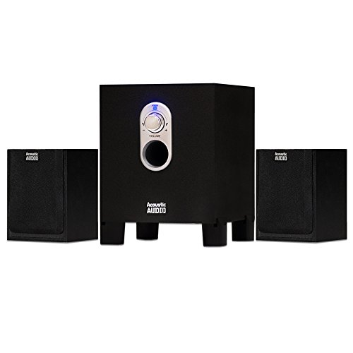 Acoustic Audio AA2101 Multimedia 250W 2.1 Home Theater Computer Speaker System - Stereos For Cheap For Home