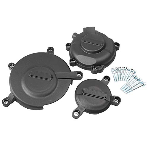 Luckmart Motorcycle Engine Cover Set Protection Clutch Kit Compatible for Suzuki GSXR600 GSXR750 2006 2007 2008 2009 2010 2011 2012 2013 2014 2015 Black
