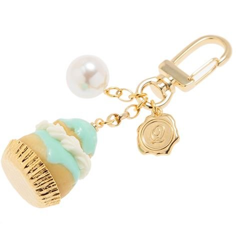 Q-pot. Religieuse Sweets Bag Charm Green New From Japan