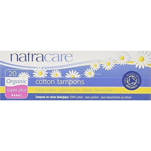 Natracare Organic Cotton Tampons, Super Plus 20 ea ( Pack of 4)