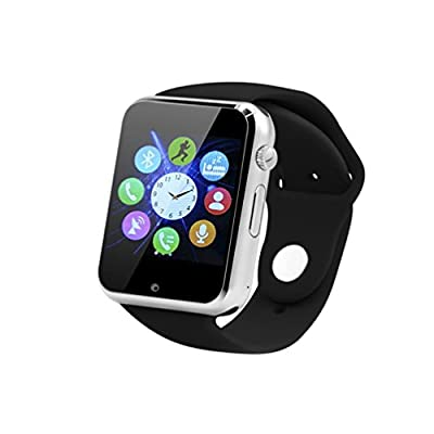 Smart Watches, SUNETLINK Smart Bluetooth Watch Phone With SIM 2G GSM, Support Sleep Monitor, Camera, Push Message, Anti lost etc …