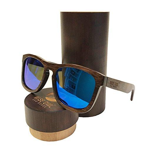 Unisex & 100% Bamboo Wood POLARIZED Sunglasses | Eco-Friendly & Sturdy - Wayfarer Wood Sunglasses Frame