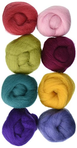 Wistyria Editions Wool Roving, 12-Inch, Designer, 8-Pack by Wistyria Editions