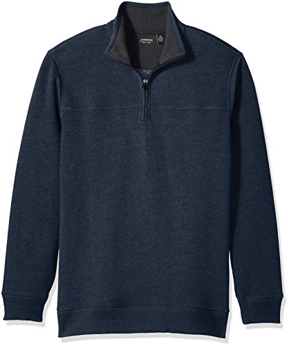 Eclipse Heather - Arrow Men's Long Sleeve 1/4 Zip Sueded Fleece, Total Eclipse Heather, Medium
