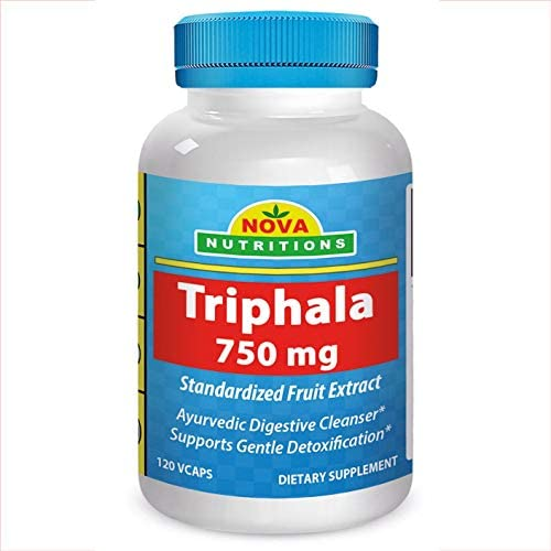 Triphala 750 mg 120 Vcaps by Nova Nutritions