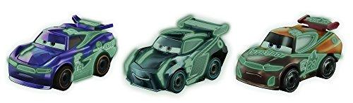 Disney Pixar Cars Mini Racers Glow-in-the-dark Series 3-Pack (Mattel Disney Pixar Cars 3 Mini Racers)