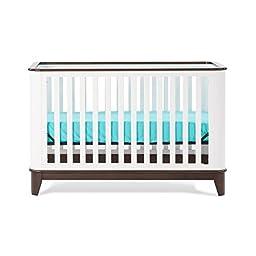Child Craft Studio 4-in-1 Lifetime Convertible Crib, white/espresso finish