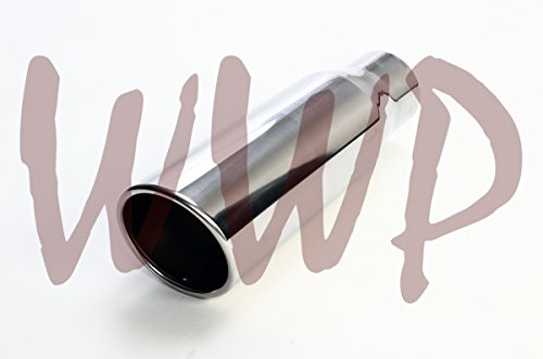 Stainless Steel Polished WELD-ON Angle Cut Roll End Pickup Truck Exhaust Tip 2.5
