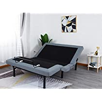 Leisuit Adjustable Bed Frame Base with Wireless Remote Head and Foot Incline, USB Charge, Nightlight, Under-Bed Lighting, Zero Gravity and No Tools Required Assembly