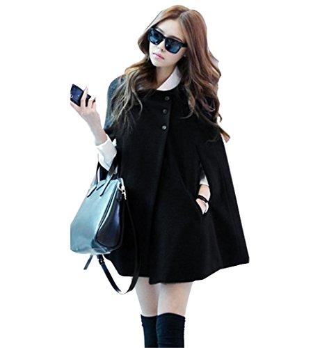 SFY Korea Women Charming Winter Casual Cloak Coat Cape Poncho Wool Warm Jacket
