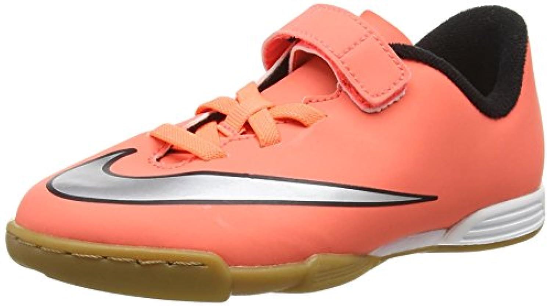 Nike Unisex Kids Mercurial Vortex II (V) Ic Football Boots, Orange (Bright Mango/Metallic Silver/Hyper Turquoise), 11 UK 28 1/2 EU