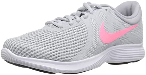 Nike Women s Revolution 4 Running Shoe, Pure Platinum Sunset Pulse – Wolf Grey, 10.5 Wide US