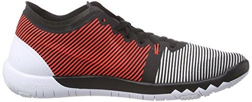 Nike Free Trainer 3.0 V4 - Zapatillas para hombre Negro / Blanco / Naranja (Black / White-Bright Crimson)