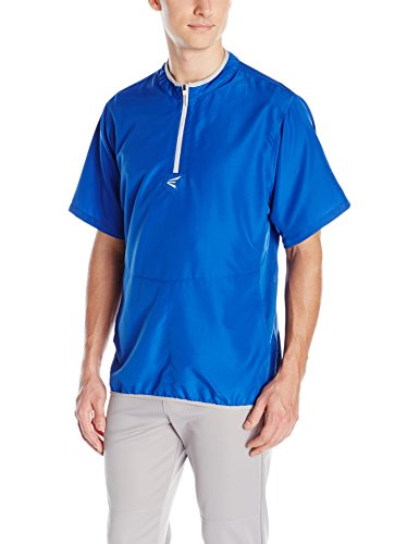 Easton Jersey Baseball - Easton Men's M5 Short Sleeve Cage Jacket, Royal/Silver, X-Large