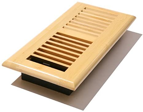Decor Grates WL410-M 4-Inch by 10-Inch Wood Louver Floor Register, Medium Oak