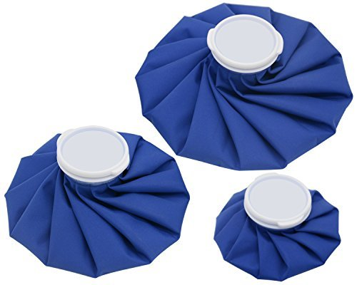 3-size Waterproof No-Leak Ice Pack Bags Reusable for Sports Pain Relief & Post-Op Cold Therapy (Royal Blue) (Hill Fabrics Summer)