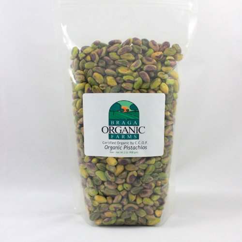 Braga Organic Farms Kernels Pistachios, Raw, 2 Pound