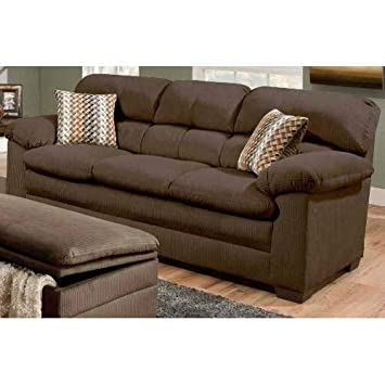 Amazon.com: Simmons Upholstery 3685-03 Lakewood Cappuccino ...