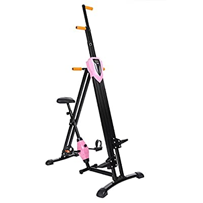 Vertical Climber Fitness Step Machines for Home Gym Exercise - 2 In 1 Climber and Exercise Bike - Adjustable Height