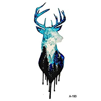 amazon com mysterious forest deer fake tattoo sticker temporary watercolor arm tatoo women waterproof body art tattoos 9 86cm 6pc beauty mysterious forest deer fake tattoo sticker temporary watercolor arm tatoo women waterproof body art tattoos 9 86cm 6pc